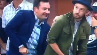 Jimmy Fallon And Justin Timberlake Did The 'Single Ladies' Dance At The U.S. Open