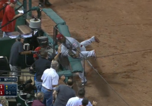 Two Cincinnati Reds Players Found Themselves In An Awkward Position Trying To Catch A Foul Ball
