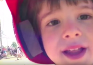 Watch This Little Baseball Player Stop Running The Bases To Tell His Dad He Loves Him