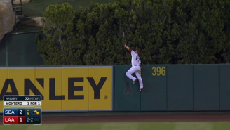 Watch Mike Trout Scale The Outfield Wall For What Might Be The Best Catch Of 2015