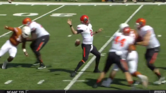 Texas Scored A Fat Guy Touchdown After Oklahoma State's Quarterback Lost An Inexplicable Fumble