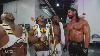 Check Out The WWE Locker Room Jamming To 'Rock Band 4'
