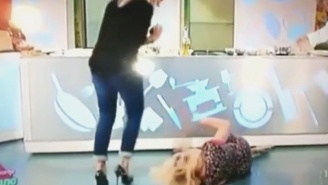 This Italian Actress Attempted The Splits On Live TV And It Went As Badly As Possible