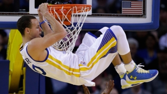 See Steph Curry Show Off His Hops With This Sweet Reverse Jam