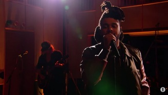 The Weeknd Softened Up 'I Can't Feel My Face' And 'The Hills' For Radio 1's 'Live Lounge'