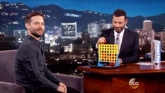 So It's Come To This: Tobey Maguire And Jimmy Kimmel Play A Game Of Connect Four
