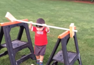 Watch As This Toddler Runs Through A Tyke-Sized 'American Ninja Warrior' Course