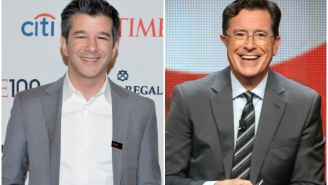 An Audience Member Protested Uber During Tonight's Taping Of 'The Late Show with Stephen Colbert'