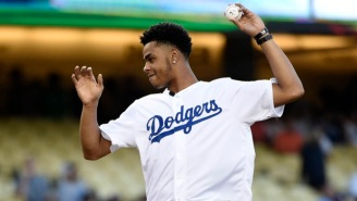 Watch D'Angelo Russell Successfully Throw Out The First Pitch At A Dodgers Game
