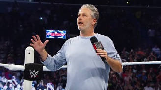 Watch Jon Stewart Dance To Drake And Take A Steel Chair To The Gut For Cancer Awareness