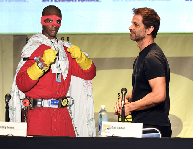 Blankman cosplayer and Zack Snyder (Photoshop)