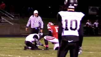 This Is Just A Good Example Of Sportsmanship And Being Nice On The Football Field