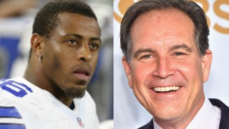 Jim Nantz Unloaded On Greg Hardy During The Cowboys-Patriots Game