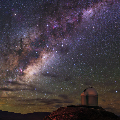 The Milky Way appears over the European Southern Observatory.
