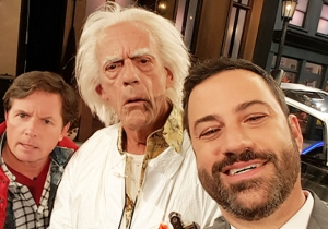 Michael J. Fox And Christopher Lloyd Went 'Back To The Future' On 'Jimmy Kimmel Live'