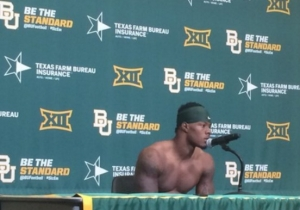 A Baylor Player's Shirtless Postgame Press Conference Sparked Some Hot Takes