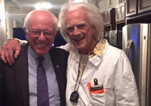 Apparently, Doc Brown Says Bernie Sanders Is Going To Be President In The Future