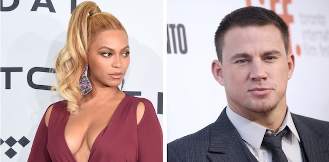 beyonce collage with Channing Tatum