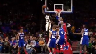 Watch Trevor Booker Explode To The Rim On This Nasty Left-Handed Jam Over The Sixers