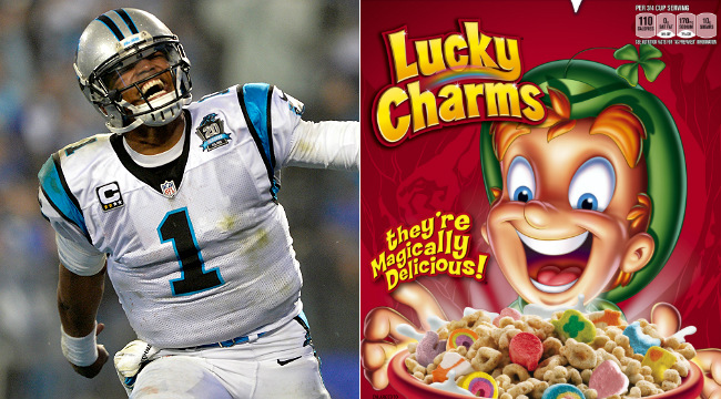 cam newton cereal