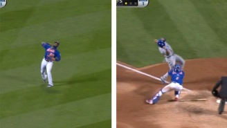 Yoenis Cespedes Saved A Run With This Absolute Laser From Left Field