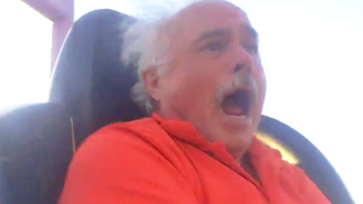 You've Never Experienced 'Sh*t' Like This Dad On His First Roller Coaster Ride