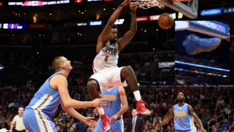 Watch DeAndre Jordan Plunk A Cameraman With Kenneth Faried's Sneaker
