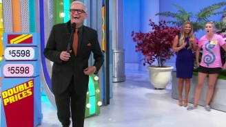Give it up for this 'Price is Right' model's adorable fall