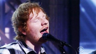 Ed Sheeran Performed An Inspired Cover Of 'Ain't No Sunshine' On 'The Late Show'