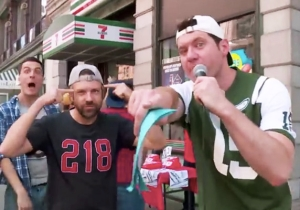 Billy Eichner And Jason Sudeikis Bro Out In The Streets Of New York In This 'Billy On The Street' Clip