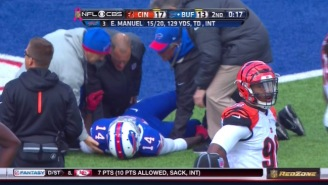 Sammy Watkins Suffered A Sprained Ankle And Caught A Touchdown On The Same Play
