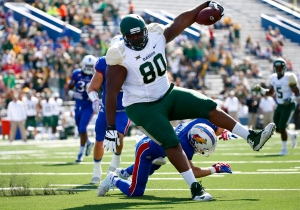 Giant Baylor TE LaQuan McGowan Wants To Be A WWE Star When He's Done With Football