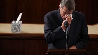 Watch John Boehner Tearfully Step Down As Speaker Of The House