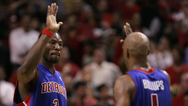 check out debbe a4f1a Report: Detroit Is Retiring Chauncey Billups & Ben Wallace's ...
