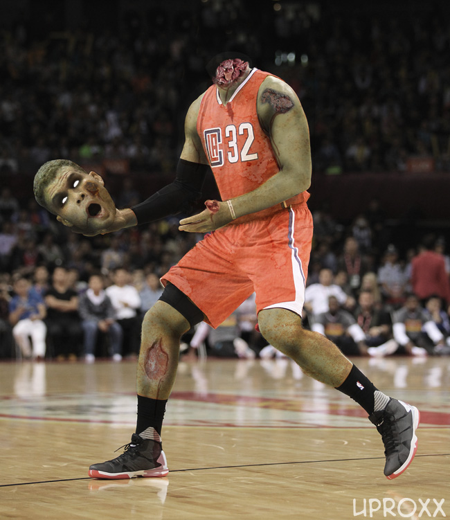 Blood Griffen attempts to dunk the wrong ball