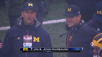 Maryland Fans Weren't Happy Because John Harbaugh Was Hanging Out On The Michigan Sidelines