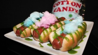 The Texas Rangers Will Serve A Cotton Candy Hot Dog At Their Home Playoff Games