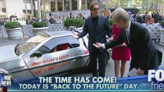 A Fox News Host Got Trapped In A DeLorean As Huey Lewis Looked On Helplessly