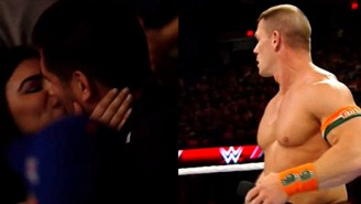 John Cena Stopped His Match On Raw To Acknowledge A Marriage Proposal In The Crowd