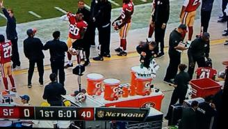 Colin Kaepernick's Passes Are So Bad He's Hurting People On The 49ers' Sideline