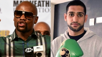 Amir Khan Said Floyd Mayweather 'Chickened Out' Of Fighting Him