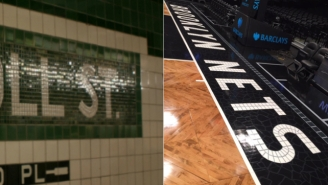 The Brooklyn Nets Have A Cool New Baseline That's A Tribute To The NYC Subway