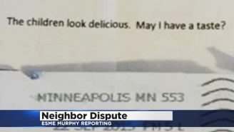 A Lady Annoyed With Her Neighbor's Kids Sent Them An Anonymous Note Saying She Wanted To Eat Them