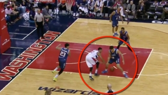 Watch Otto Porter Accidentally Nut Meg This Poor Defender Before The Layup