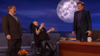 Watch WWE Diva Paige Teach Conan O'Brien Her Trademark Primal Scream