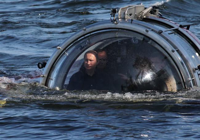 Vladimir Putin Rides In A Submersible