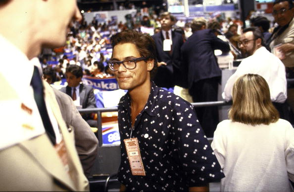 Actor Rob Lowe on floor of Democrtic National Convention