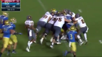 Arizona State Capped Off Their Upset Of UCLA With An Incredible Pile Push Into The Endzone