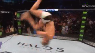 Watch This UFC Fighter Pull Off An Insane Front Flip After His Debut Win