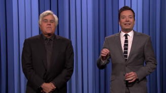 Jay Leno Was Summoned Back To 'The Tonight Show' To Tag In For Jimmy Fallon's Monologue